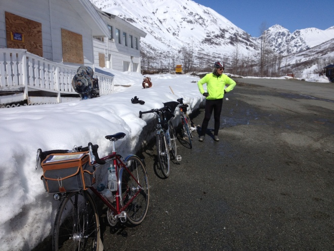 300K Brevet - Turnaround at the Motherlode Lodge, Hatcher Pass