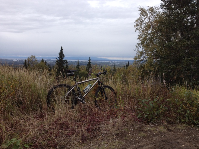 Rare mountain bike ride.  Hillside Singletrack, Anchorage